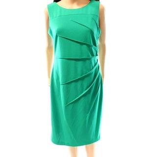 Calvin Klein NEW Green Women's Size 10 Starburst Seamed Sheath Dress