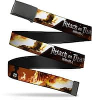 Blank Black Buckle Attack On Titan Eren V. Titan Scene Webbing Web Belt