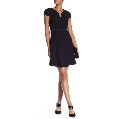 Rebecca Taylor Short Cap Sleeve Dress, Black, 12