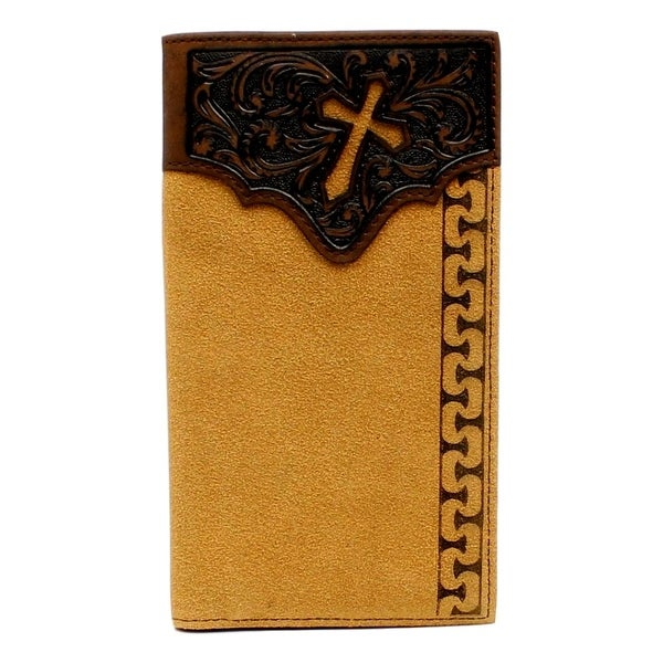 Ariat Western Wallet Mens Rodeo Cross Cutout Overlay Natural - One size