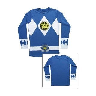 Blue Power Rangers Long Sleeve Costume Shirt