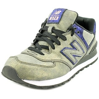 New Balance ML574 Round Toe Suede Sneakers