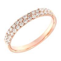 Prism Jewel 0.48Ct Round Cut G-H/SI1 Natural Diamond Wedding Band - White G-H