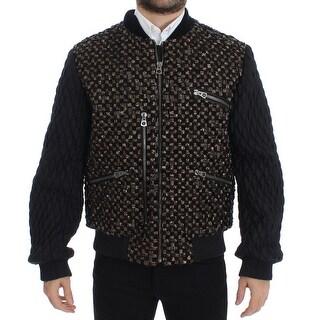 Dolce & Gabbana Black Sequined Goatskin Jacket
