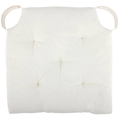 Cottone Polyfill Fiber Chair Pads w/5 Velcro Tucks (Set of 08)
