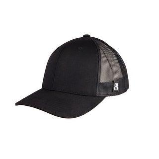 Bex Hat Mens Rusk Fitted Logo Stitching Baseball Cap OSFA Black BBRH