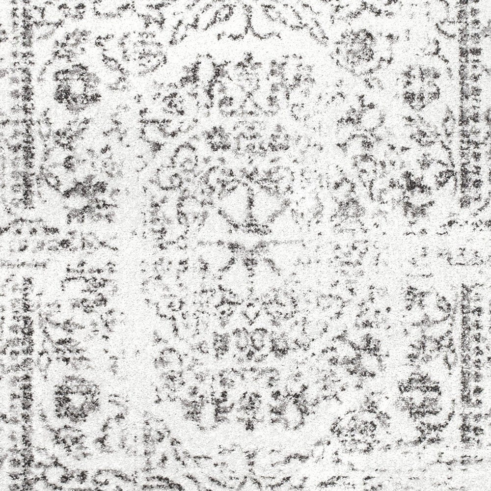 """Shop Porch & Den Hope Vintage Distressed Medallion Area Rug - 2' 5"""" x 9' 5"""" Runner - Gray from Overstock on Openhaus"""