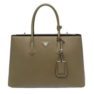Prada Saffiano Leather Tote Handbag Military Green