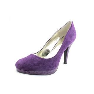 Alfani Maddy Women Round Toe Suede Purple Heels