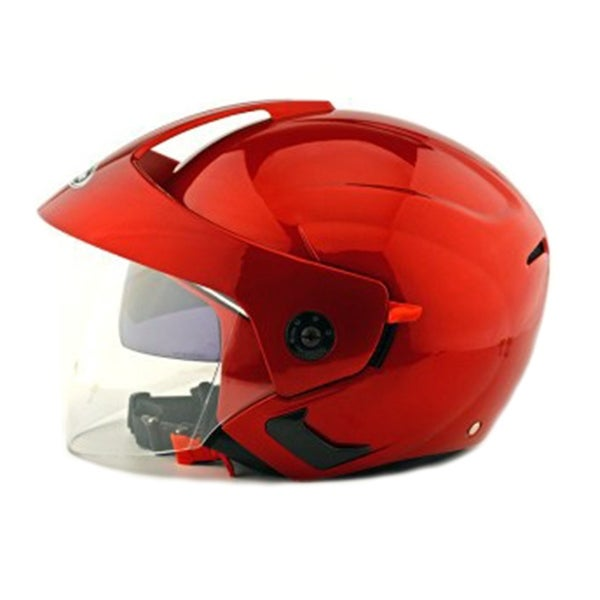 Motorcycle Motor Bike Scooter Safety Helmet 205 - red