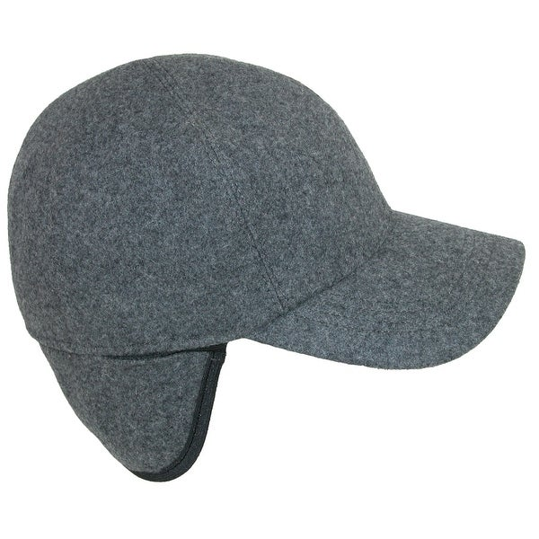 2347152fc6561 Shop Wigens Men s Wool Baseball Cap with Earflaps - Free Shipping ...