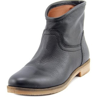Lucky Brand Garmann Women Round Toe Leather Black Ankle Boot