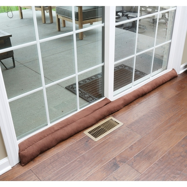 Home District Sliding Door Draft Dodger Weighted Patio Breeze Bug And Noise Guard