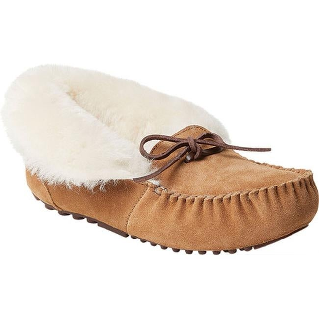 New Women/'s Dearfoams Moccassin Slippers Size Small  0A