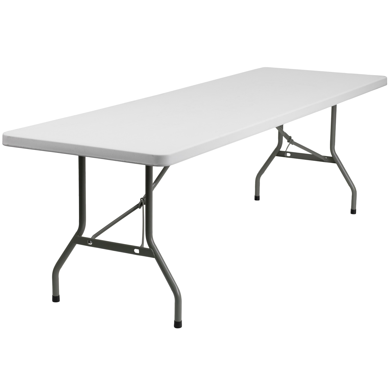 - Shop 8-Foot Granite White Plastic Folding Table - Banquet / Event