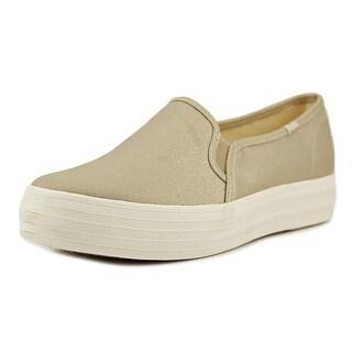 Keds Triple Deck Women Met Gold Sneakers Shoes