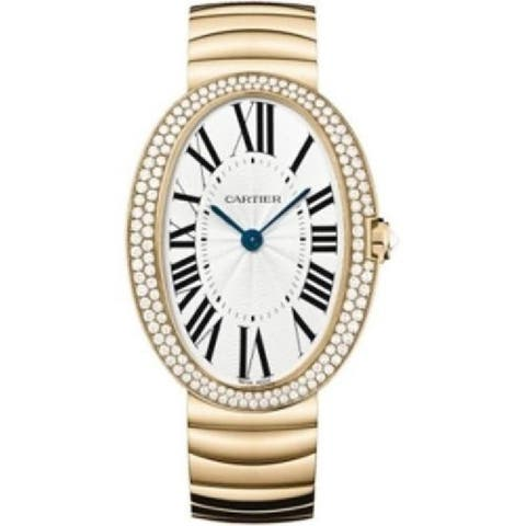 Cartier Women's WB520003 'Baignoire' Rose Gold-tone Stainless Steel Watch