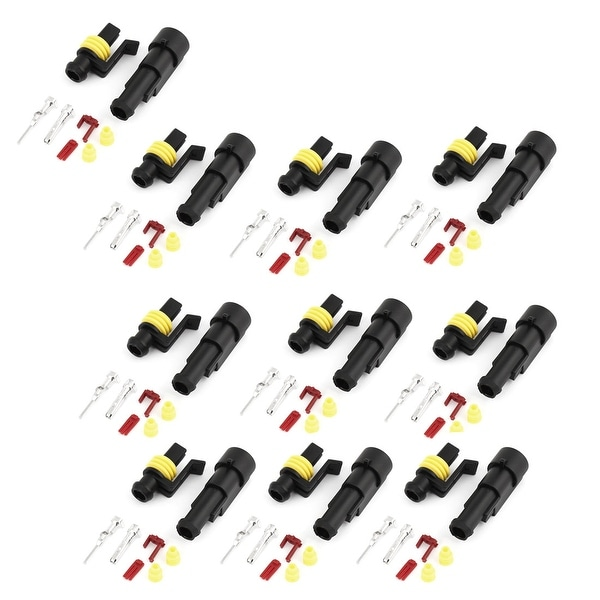10 Set Sealed Waterproof Wire Connectors Plugs for Car Auto Stereo