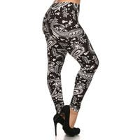 Damask Design Plus Size Leggings