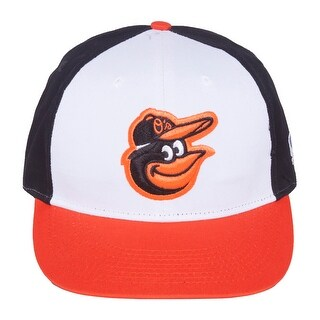 MLB Cooperstown ADULT Baltimore ORIOLES Wht/Orng/Blk Hat Cap Adjustable TWILL Throwback