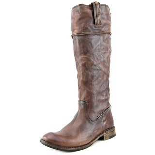 Frye Shirley Artisan Tall Round Toe Leather Knee High Boot