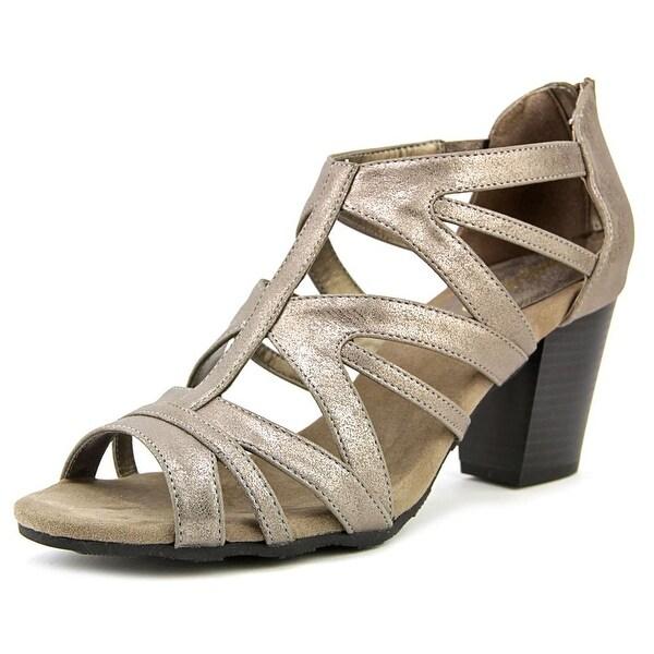 Easy Street Amaze Women Open Toe Synthetic Gold Sandals