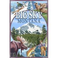 Big Sky, Montana - Montage Scenes - LP Artwork (Art Print - Multiple Sizes)