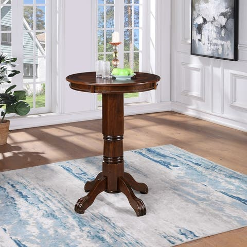 Florence Wood Round Pub Table
