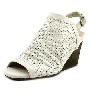 Naya Luxor Open Toe Leather Wedge Sandal