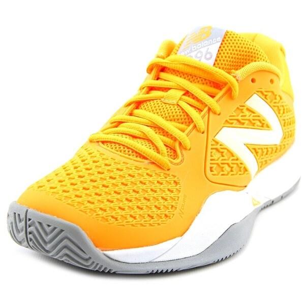 New Balance WC996 Women Round Toe Synthetic Orange Tennis Shoe