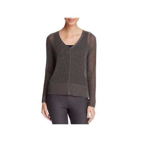 Eileen Fisher Womens Pullover Sweater Tencel Open Knit