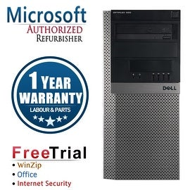 Refurbished Dell OptiPlex 980 Tower Intel Core I5 650 3.2G 16G DDR3 1TB DVD Win 7 Pro 64 Bits 1 Year Warranty