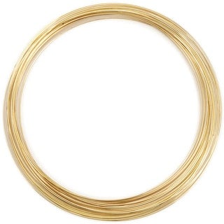 Memory Wire Necklace .62mm .5oz-Gold-Plated - 18 Coils - gold
