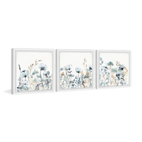 Field of Blue Flowers Triptych