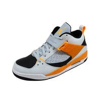 Nike Men's Air Jordan Flight 45 Pure Platinum/Atomic Mango-White-Kumquat 644846-016