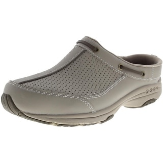 Easy Spirit Womens Triproute Leather Perforated Clogs