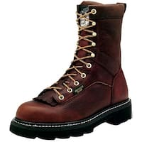 """Georgia Boot Work Mens 8"""" Lace Leather Goodyear Welt Copper"""
