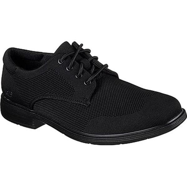 06be6842188b Shop Skechers Men's Caswell Aleno Oxford Black/Black - On Sale ...