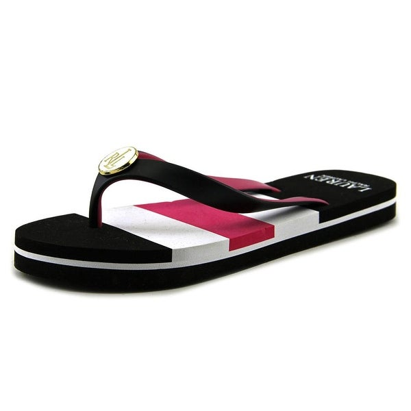 Lauren Ralph Lauren Elissa II Women Open Toe Synthetic Black Flip Flop Sandal