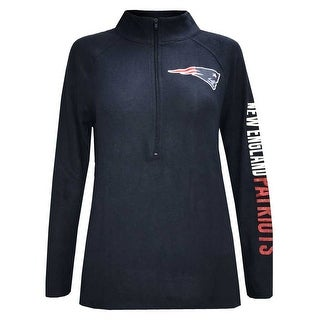 New Era Womens NFL New England Patriot 1/4 Zip Athletic Jacket Sweatshirt 78051L