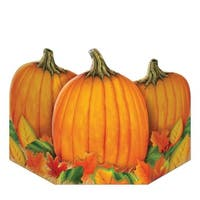 "Pack of 6 Fall Harvest Pumpkin Stand-Up Thanksgiving Decoration Photo Props 36"" - Orange"