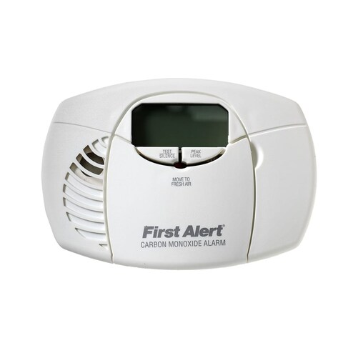 First Alert CO410 Battery Digital Display Carbon Monoxide Detector with Front-Ac - White