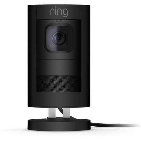 Ring Stick Up Indoor/Outdoor Wired Security Camera - Black 2nd Gen