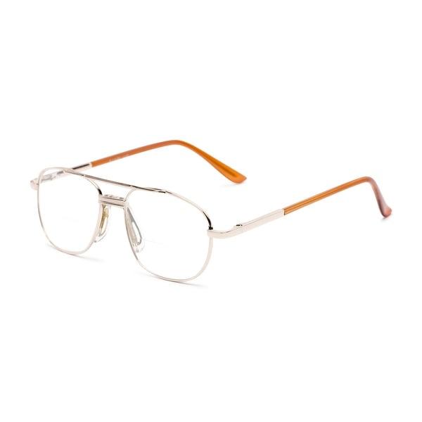 Readers.com The Lubbock Bifocal Aviator Reading Glasses. Opens flyout.