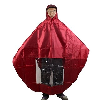Motorcycle Rain Resistant Waterproof Raincoat Protector Red 80cm Side Length