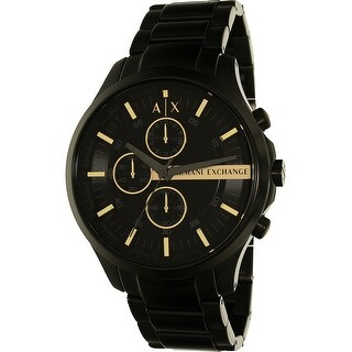 Armani Exchange Men's AX2164 Black Stainless-Steel Plated Dress Watch