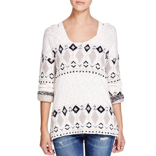 Sanctuary Womens Pullover Sweater Wool Blend Hooded