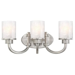 "Westinghouse 6308100 Ramsgate 20"" Wide 3 Light Bathroom Vanity Light with Glass Shades"