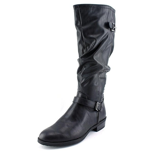 White Mountain Womens CHIP Leather Closed Toe Mid-Calf Fashion Boots