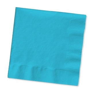 """Club Pack of 500 Bermuda Blue 3-Ply Paper Party Lunch Napkins 6.5"""""""
